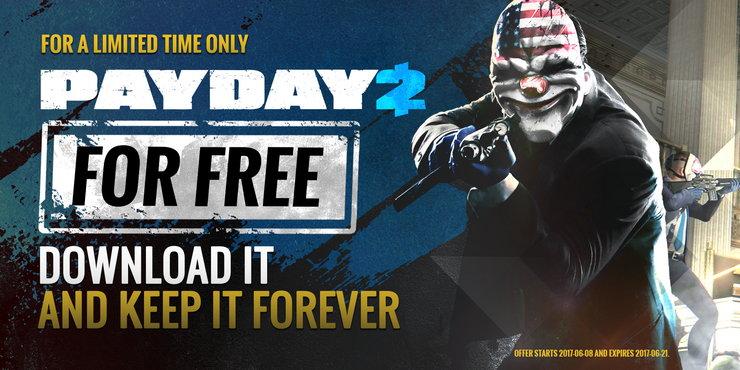 Payday 2 стала временно бесплатной вSteam
